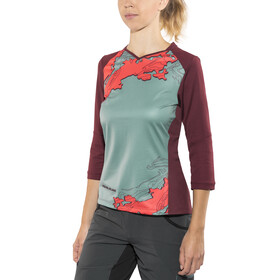 PEARL iZUMi Launch 3/4 Jersey Women cayenne/port composite
